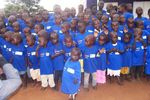 Several children received the HISKIDS shirts along with other needed clothing supplies.