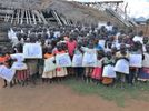 A photo of the children who received our fall distribution of nets.