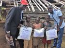 GO Team in Uganda  who worked on handing out and training how to use the mosquito nets