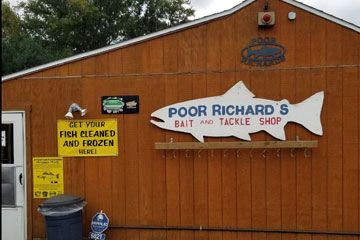Poor Richards Bait and Tackle 6821 West Lake Road Fairview, PA 814-474-5623