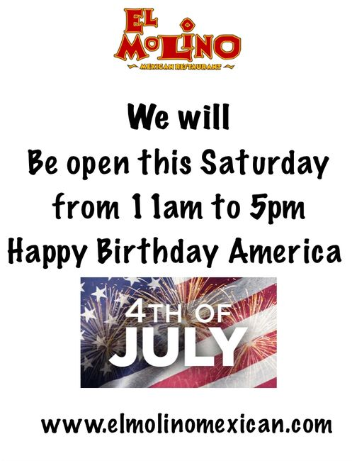 Drinks 🍷 🍹  specials until 5pm  Happy 4th of July 🇺🇸 !! Everyone