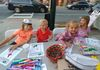 Coloring during First Friday.