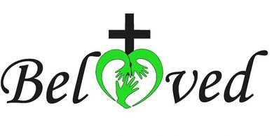 beloved ministry logo, cross, hands
