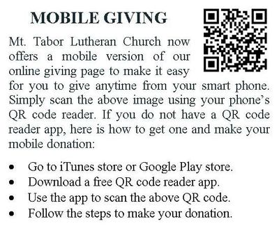 qr code, mobile giving