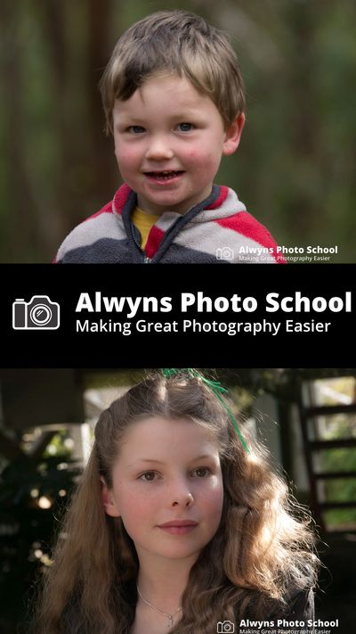 Portrait images for for portrait and child photography  class by Alwyns Photo School Melbourne