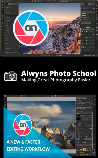 ON1 Raw software image for class at Alwyns photo school Melbourne