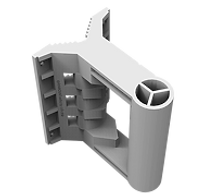 Advanced wall mount adapter for large point to point and sector antennas