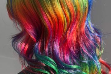 rain bow hair color, best hair color service