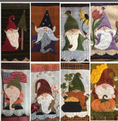 All eight Gnomes and one on the way!