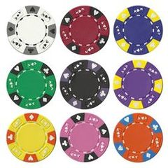 Ace King Tai-Color Poker Chips