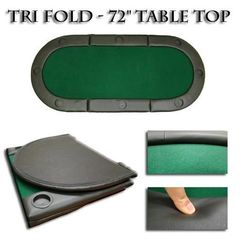 Oval Padded Poker Table Top