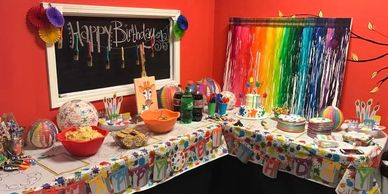 Birthday Parties Kids parties Sip and paint. Adult parties. Sweet sixteen party. Baby shower. Bridal