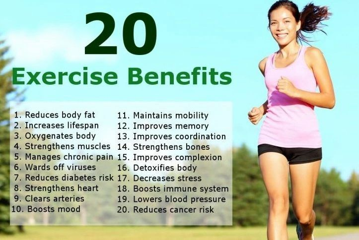 10 + Great Benefits of Exercise