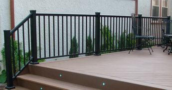 "Aluminum AFCO-Rail , ""carefree"", maintenance-free product that comes lifetime structural warranty."