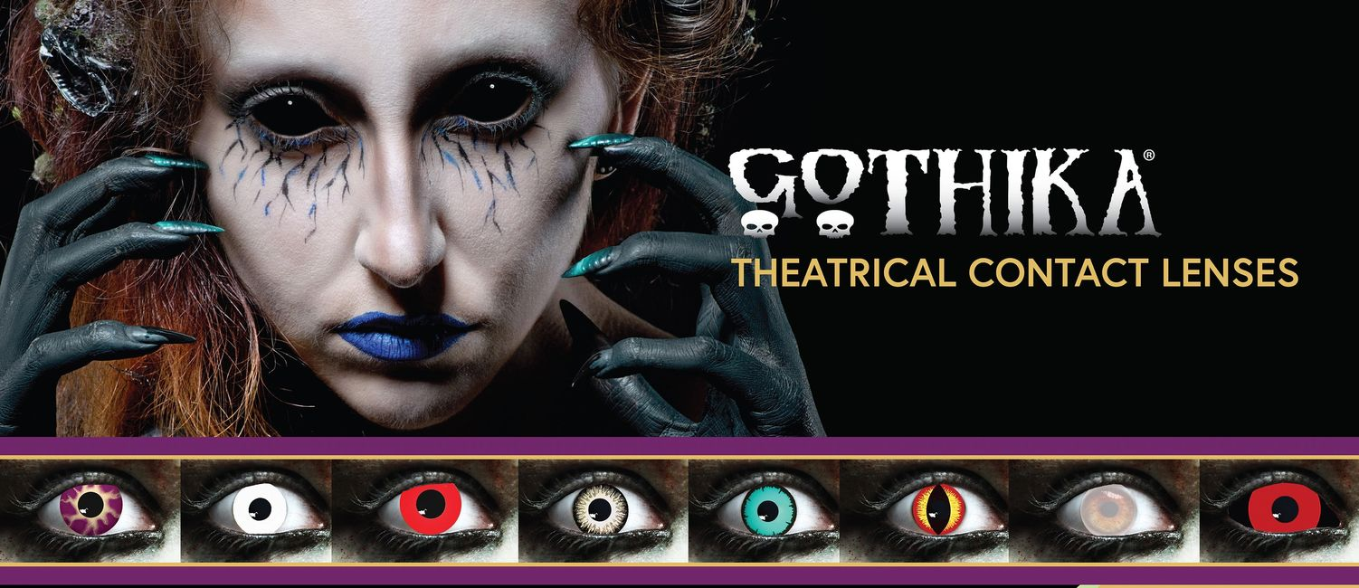Gothika Halloween Zombie contact lenses.