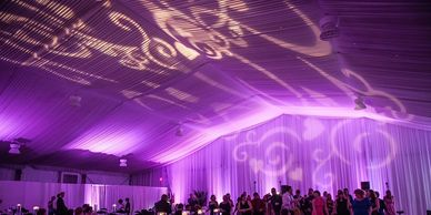 Beautiful purple Up-Lighting created by PRO Wireless Up-Lights at the Tradewinds Resort Hotel