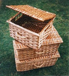 Very Deep Picnic Baskets with Side Finger Holes.