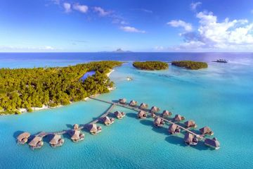 Bora Bora, Taha'a, Fiji, South Pacific, Over the Water Bungalows