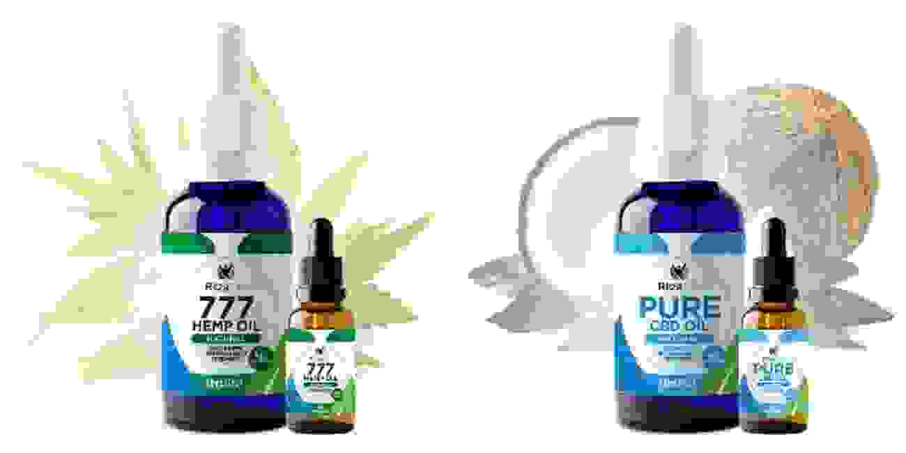 777 Hemp Oil, Pure CBD Oil, MCT Oil (Coconut oil extract), 99% Pure CBD Isolate THC Free Ritza Life