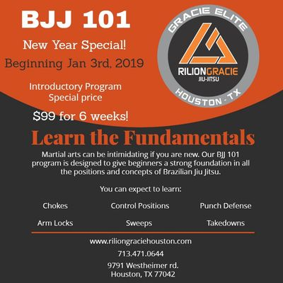 BJJ101 Program for Jiu Jitsu Beginners in Houston