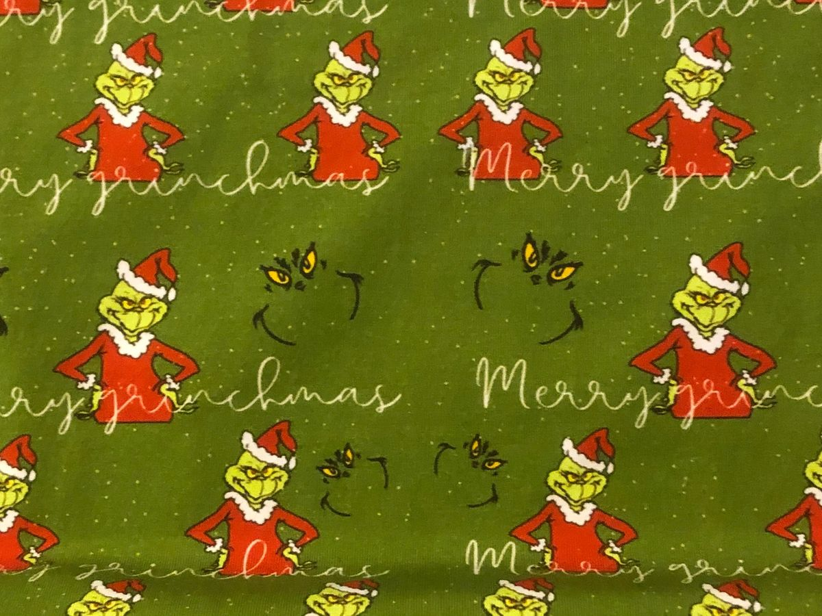Green Character Cotton Lycra Fabric