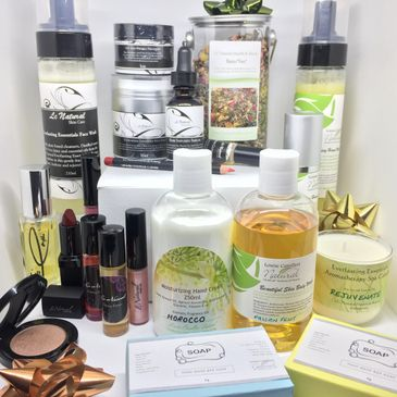 LC Natural Skin Care products on display