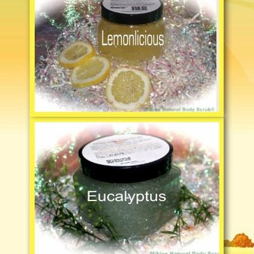 Lemonlicious and Eucalyptus, top workout body scrubs.