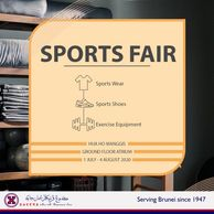 Find out all the offered sports products here! until 4th August