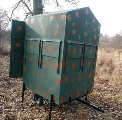 Deer Blind made from top building materials, insulated, and working windows.