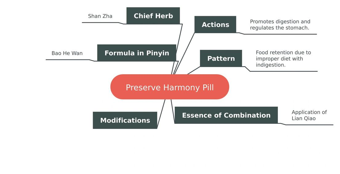 Reduce Food Stagnation   Chinese Herb Mind Map