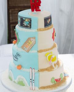 Yin Yang wedding cake  Summer and Winter in this 4 tier cake