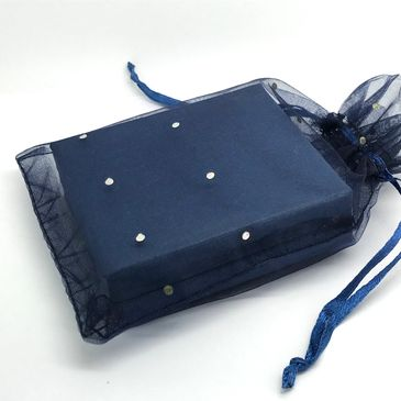 Navy blue gift box packaging at The Town Jewels.