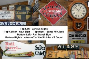 railroad santa fe REA sign