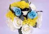Blue, yellow, and white bouquet available to borrow