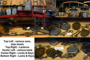 railroad santa fe lantern locks keys