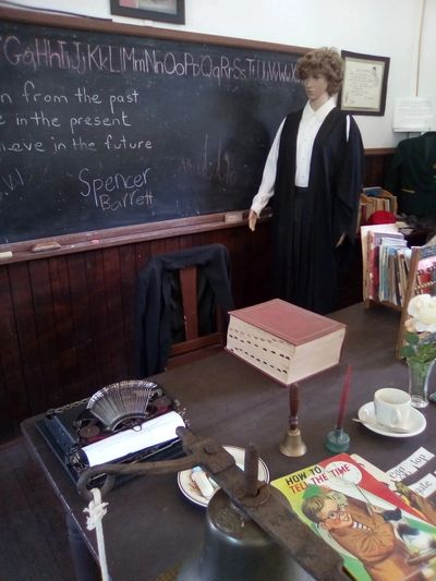 Classroom scene at old Historic Settlement in Margaret River