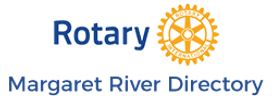 Rotary Local MargaretRiver Directory Gold/Blue Logo