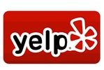 Yelp online directory red and white logo with word 'Yelp'