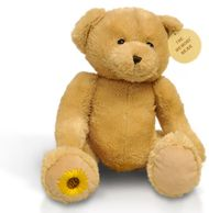 Ashes inside this Memory bear, normally used for small children to remember loved ones.
