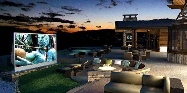 Outdoor movie theater in Edmond, outdoor movies in Edmond, backyard theaters in Edmond