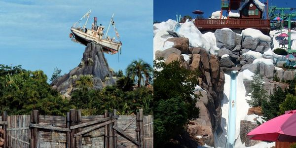 Typhoon Lagoon and Blizzard Beach Water Parks