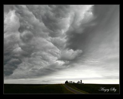 """Angry Sky"" accepted into PP of A National Print Competition Display."