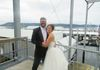 Bride and Groom on the boat deck