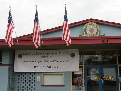 American Legion Post 105 welcomes the National Commander in Celebration of the 100th anniversary.