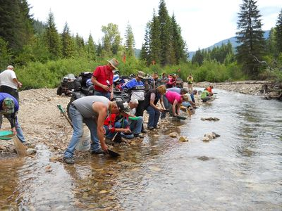 An ATV/UTV Club looking for GOLD at Eagle City Park!