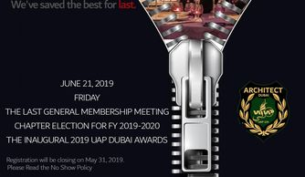 June 21, 2019 The 4th GMM at Palazzo Versace Dubai. Registration will be closing on May 31, 2019.
