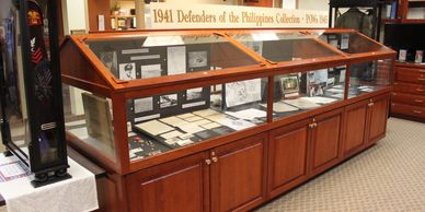 Secondary gallery ADBC Museum; WWII Pacific Theater artifacts related to Battan and Corregidor