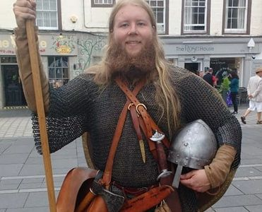 Present Past Living History Saxon Warrior