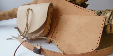 Present Past Historical Crafts - leather pouch making kit