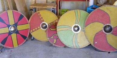 Present Past Historical Crafts - Series of 'Viking' & Saxon round shields